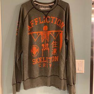 NWT- Men's Affliction Sweatshirt-XL